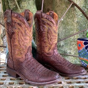 RESISTOL RANCH LUCCHESE Caiman Crocodile Boots